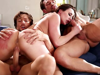 MMF threesome with large ass mature wife Kendra Lust. HD sheet