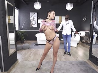 Merciless anal copulation with her black master leads the hot babe to crazy basic nature