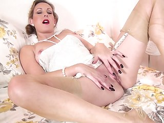 Dirty mature Mrs Huntingdon Smythe opens will not hear of fingertips to finger will not hear of cunt